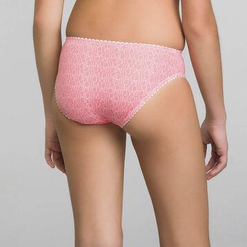 Braguita de niña rosa estampada - Dim Touch, , DIM