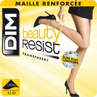 Lot de 2 collants transparents noirs Beauty Resist 15D-DIM