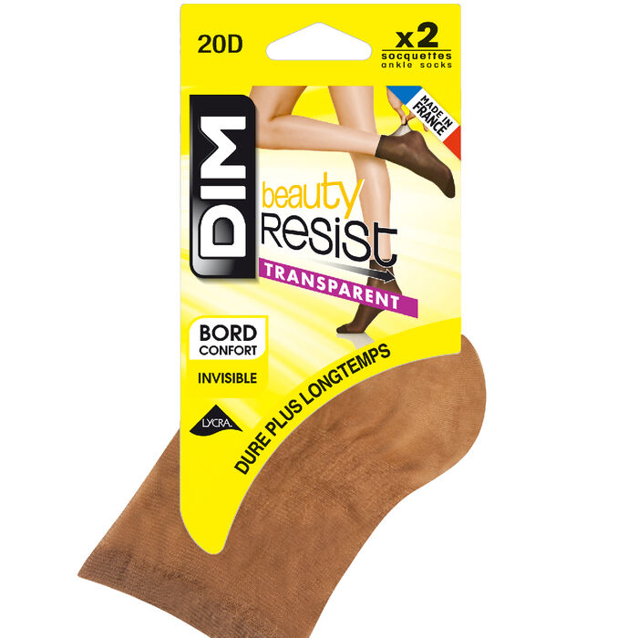 Lote de 2 calcetines de media canelas Beauty Resist 20D, , DIM