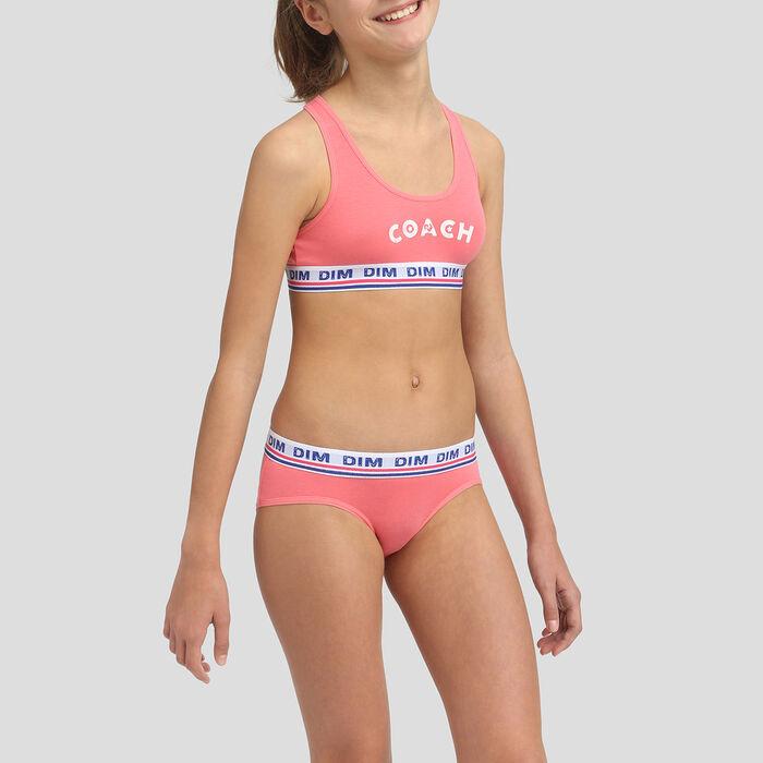 Culotte para niña coral de algodón elástico, , DIM