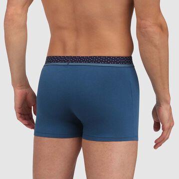 Bóxer azul con cintura estampado plumeti Mix&Dots, , DIM