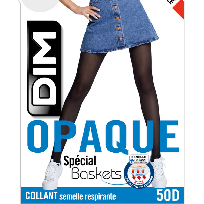 Panti negro opaco aterciopelado especial Sneakers 50D, , DIM