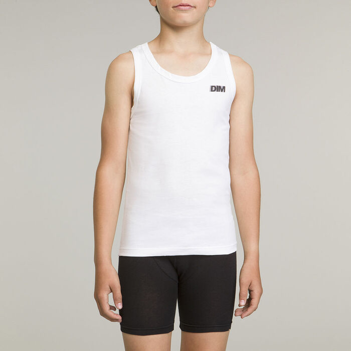 Camiseta blanca de deporte para niño 100% algodón Basic Sport, , DIM