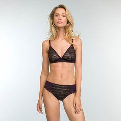 Braguita violeta y negra de encaje Mod de Dim, , DIM