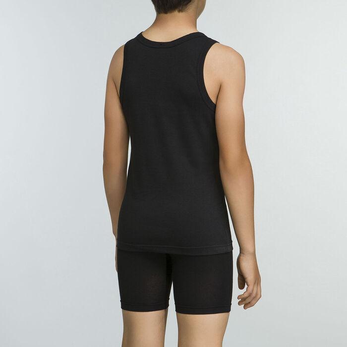 Camiseta deportiva de tirantes negra 100% algodón niño Basic Sport, , DIM