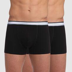 Pack de 2 bóxers negro con cintura ajustada Absolu Fit, , DIM