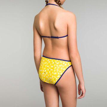 Bikini niña con estampado de limones amarillo y azul, , DIM