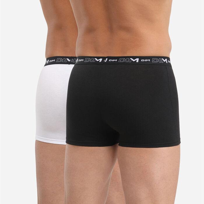 Pack de 2 bóxers negro y blanco DIM Coton Stretch, , DIM