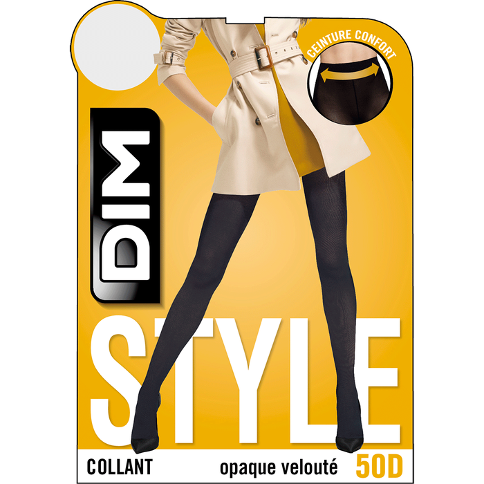 Collant opaque velouté marine 50D Femme Les Opaques-DIM