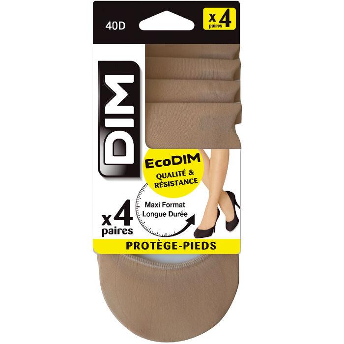 Lot de 4 protège-pieds clairs EcoDIM opaques 40D, , DIM