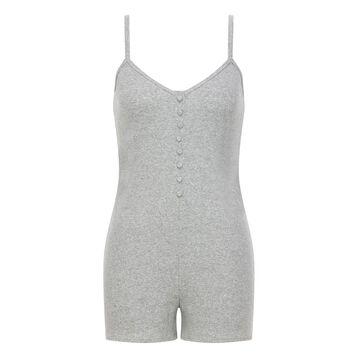 Mono para mujer de algodón elástico gris claro jaspeado Casual Line, , DIM
