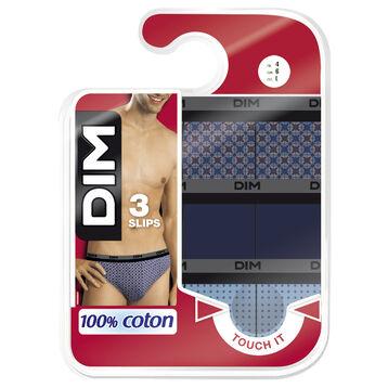 Lot de 3 slips à imprimé mosaïques 100% coton-DIM