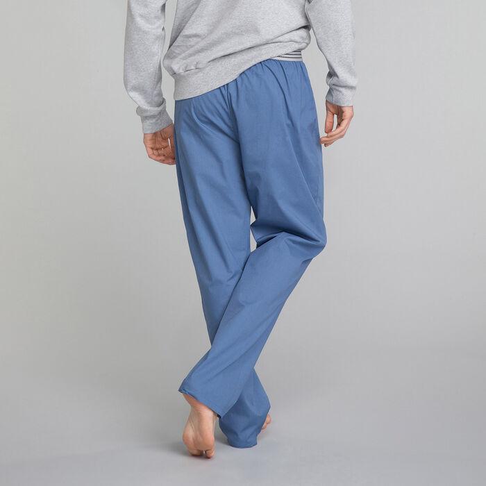 Pantalón largo de pijama azul - Essential, , DIM