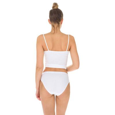 Lot de 2 slips blancs midi Femme Pur Coton-DIM