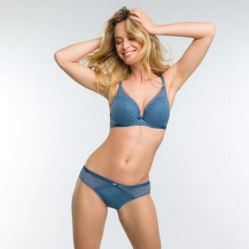 Braguita de ecaje y microfibra azul - Dim Daily Glam Trendy Sexy, , DIM