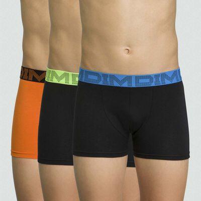 Pack de 3 boxers de niño de algodón elástico Renard Mix & Color, , DIM