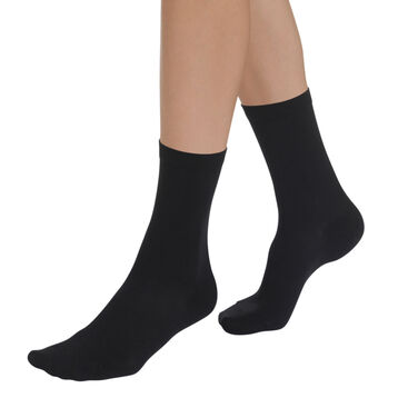 Chaussettes noires hydratantes Sublim Femme-DIM