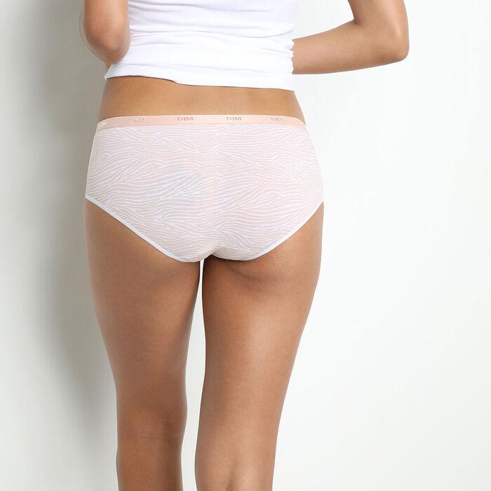 Pack de 3 bragas tipo bóxer de algodón elástico con estampado gráfico rosa Les Pockets, , DIM
