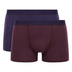 Pack de 2 bóxers de algodón elástico malva y violeta Soft Power , , DIM