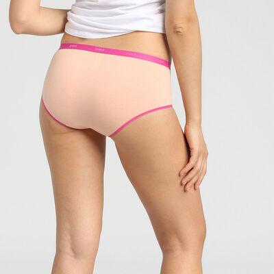 Pack de 3 culottes de algodón elástico rosa/gris/marfil Les Pockets EcoDim, , DIM