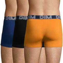 Pack de 3 bóxers de algodón amarillo ,azul y negro Dim Powerful , , DIM