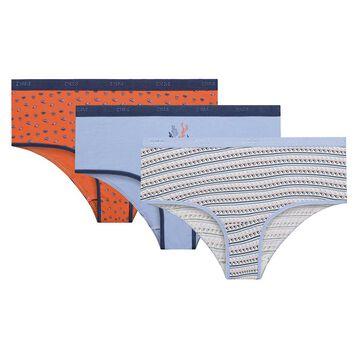 Pack de 3 culottes de algodón Poseidón - Les Pockets, , DIM