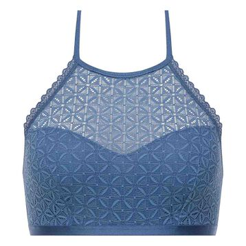 Bralette de encaje espalda desnuda azul - Dim Daily Glam Trendy Sexy, , DIM