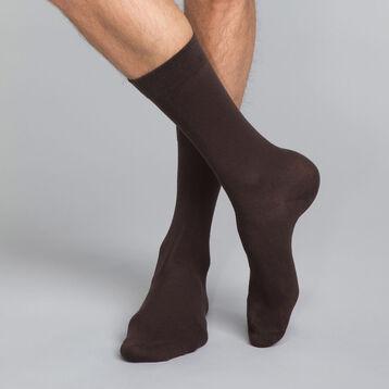 Calcetines marrones de algodón Hombre - Dim Basic Coton, , DIM