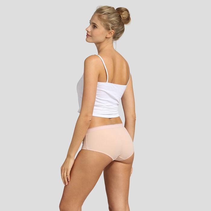 Pack de 2 culottes new skin y coral Les Pockets Microfibre de Dim, , DIM