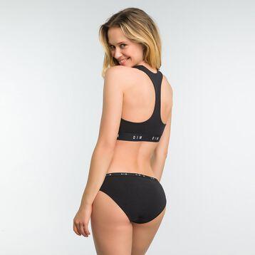 Top negro sin aros con espalda nadadora - DIM Originals, , DIM