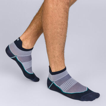 Socquettes courtes impact fort bleu Homme Dim Sport-DIM