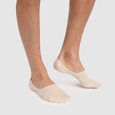 Pack de 2 pares de pinkies hombre beige de algodón peinado Basic Coton, , DIM
