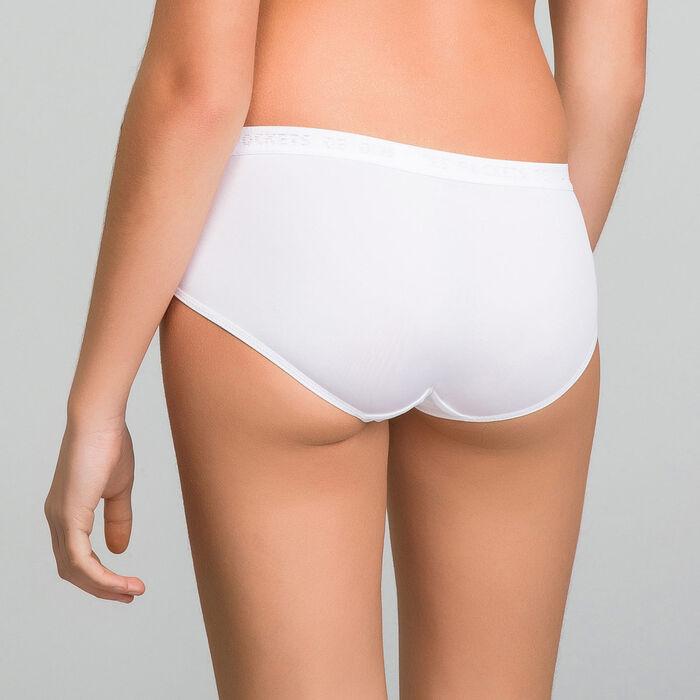 Pack de 2 culottes blancos de microfibra Niña - Pocket Micro, , DIM