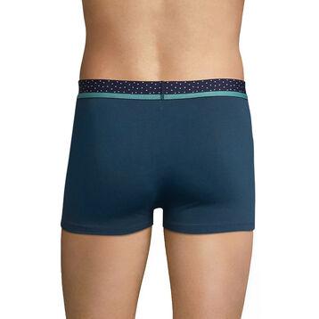 Bóxer azul de algodón con cintura de topos - Dim Mix & Dots, , DIM