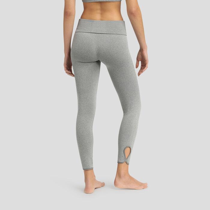 Legging sin costuras de talle alto gris jaspeado Dim Sport, , DIM