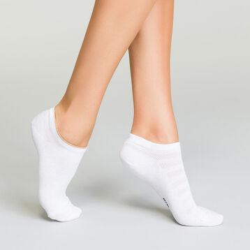 Pack de 2 pares de calcetines bajos de algodón efecto lurex, , DIM