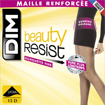 Collant Beauty Resist silhouette fine noir 15D-DIM