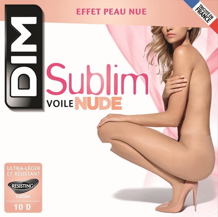 Collant Sublim voile effet nude beige éclat 10D-DIM