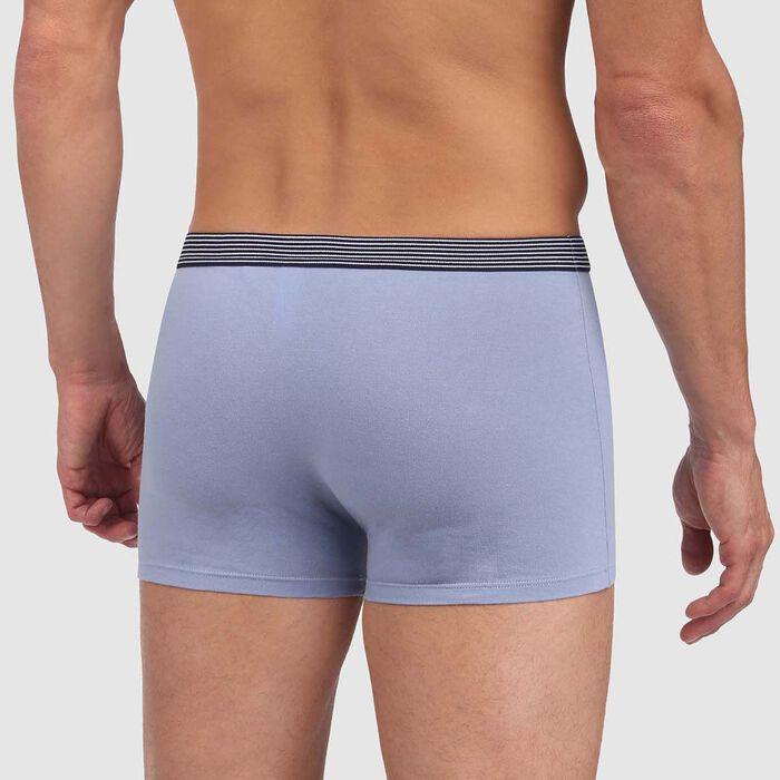 Bóxer azul de algodón elástico con cintura geométrica Mix and Print, , DIM