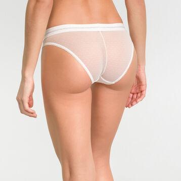 Braguita blanca marfil de tul con estampado plumetis - Dim Trendy Micro, , DIM