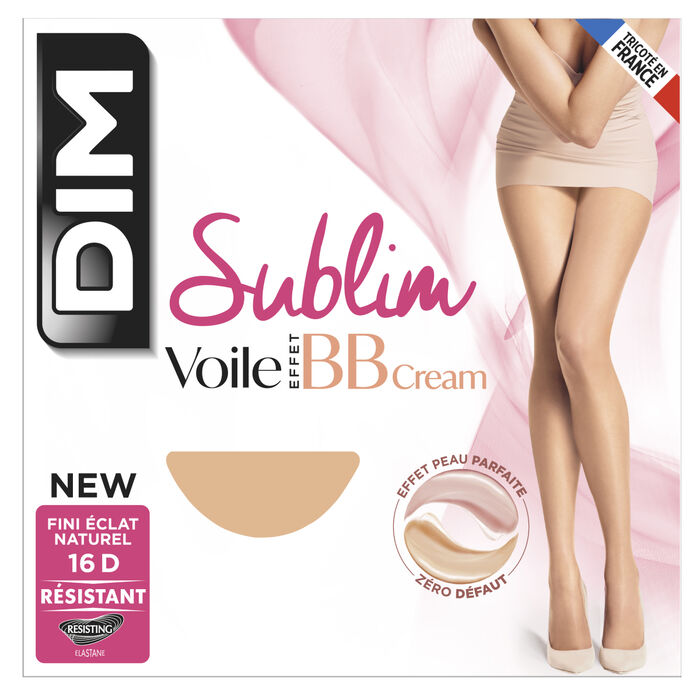 Panty transparente brillante Sublim efecto BB Cream 16D, , DIM