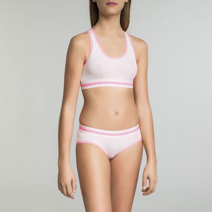 Top deportivo niña de algodón rosa - Dim Sport , , DIM