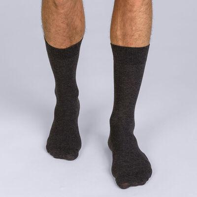 Pack de 2 calcetines antracita X-Temp hombre, , DIM