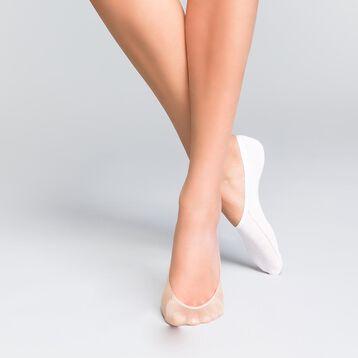 Pack de 4 pares de calcetines pickies blancos y color carne - Invisifit, , DIM