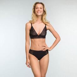 Braguita negra de encaje y microfibra Sublim Fashion , , DIM