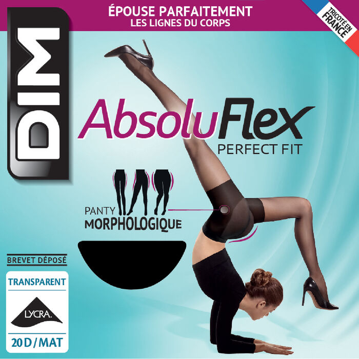 Panti negro AbsoluFlex transparente 20D, , DIM