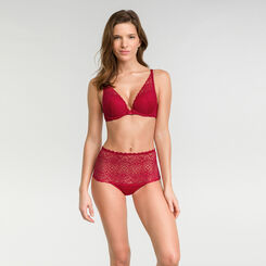 Sujetador triangular push-up rojo - Dim Sublim Dentelle, , DIM