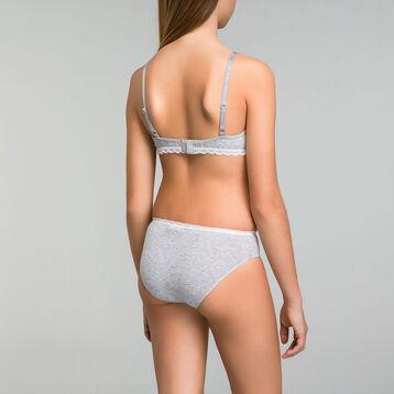Soutien-gorge triangle gris chiné mousse amovible DIM GIRL-DIM