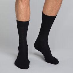 Mi-chaussettes coton X3 noir Homme Basic Coton-DIM