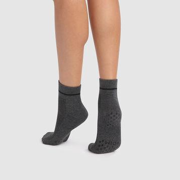 Calcetines antideslizante  grises de impacto ligero Dim Sport, , DIM